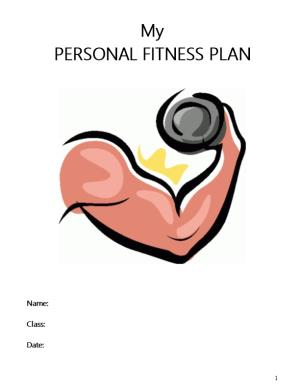 My Personal Fitness Plan