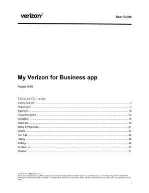 My Verizon for Business App