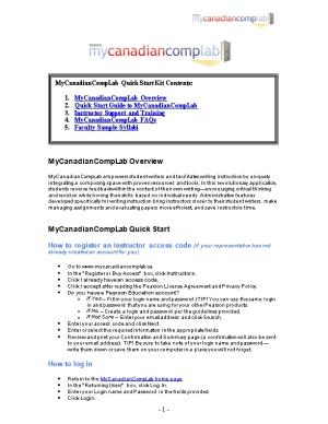 Mycanadiancomplab Overview