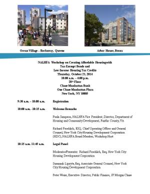 NALHFA Workshop on Creating Affordable Housing With