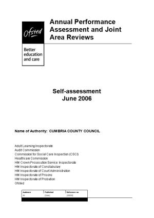 Name of Authority: CUMBRIA COUNTY COUNCIL