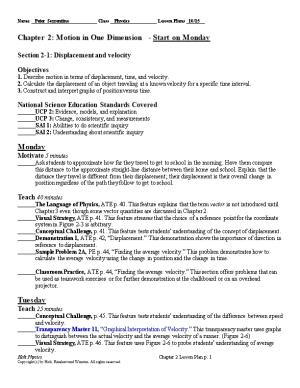 Name Peter Sorrentino Class Physics Lesson Plans 10/15
