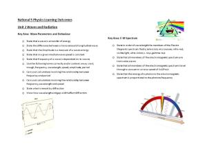 National 5 Physics Learning Outcomes