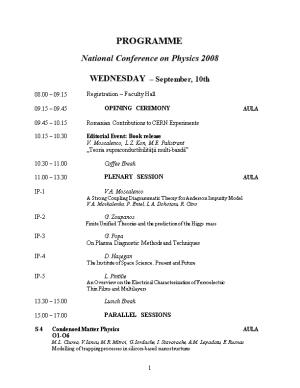 National Conference on Physics 2008