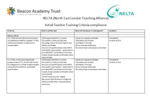 NELTA (North East London Teaching Alliance)