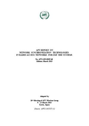 NETWORK SYNCHRONIZATION TECHNOLOGIES in RADIO ACCESS NETWORKS for IMT TDD Systems