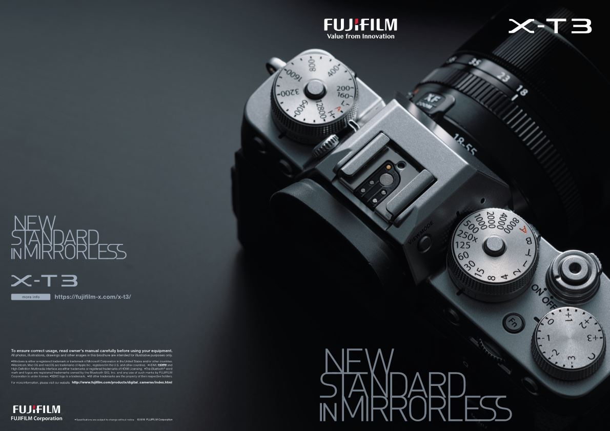 New Standard In Mirrorless Fujifilm X-T3