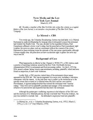 News Media and the Law New York Law Journal March 23, 1978