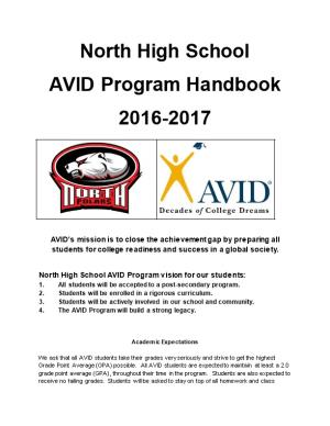 North High School AVID Program Vision for Our Students