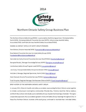 Northern Ontario Safety Group Business Plan