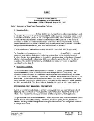 Note 1 Summary of Significant Accounting Policies