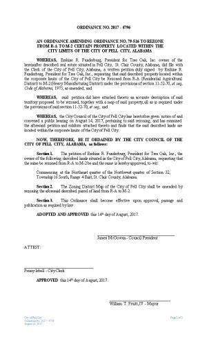 Notice of Public Hearing on Rezoning