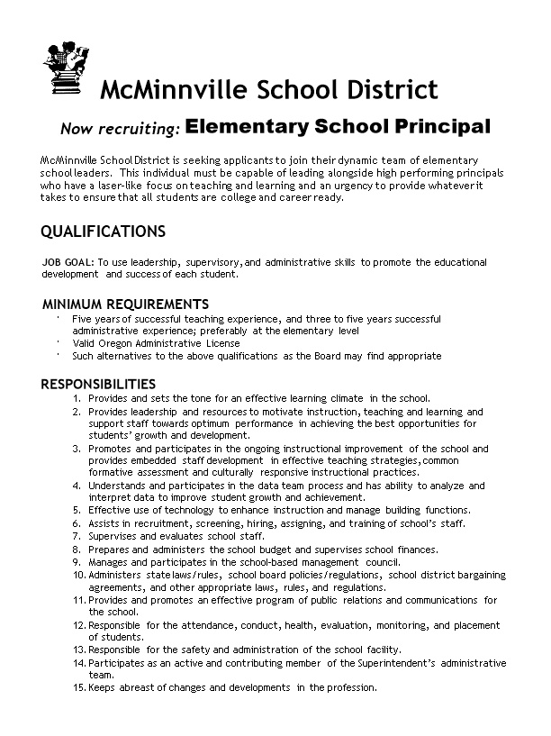 Now Recruiting: Elementary School Principal