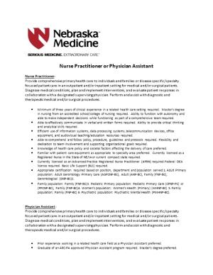 Nurse Practitioner Or Physician Assistant