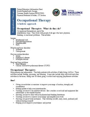 Occupational Therapy: a Holistic Approach