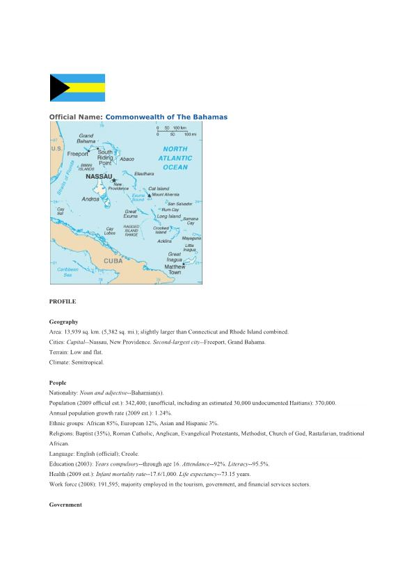 Official Name: Commonwealth of the Bahamas