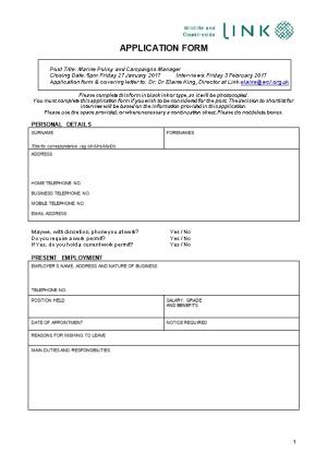 OIC Application Form