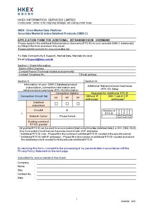 OMD-C Additional RTS ID Application Form