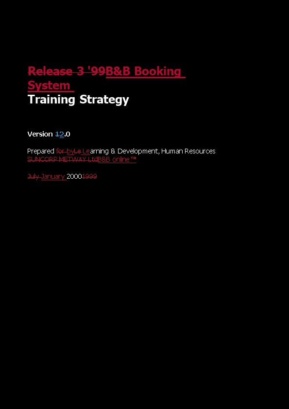 One Brand Instructor Led Training Content Plan