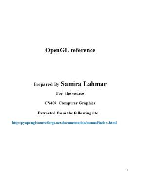 Opengl Reference