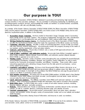 Our Purpose Is YOU!