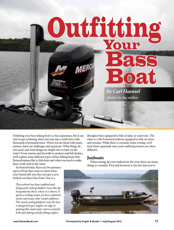 Outfitting Your Bass Boat