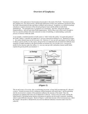 Overview of Geophysics