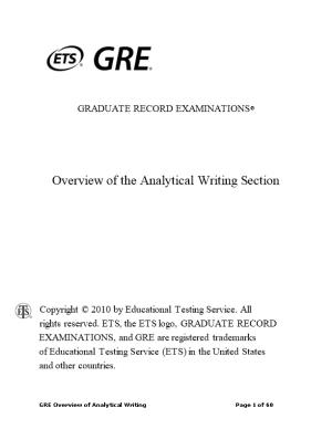 Overview of the Analytical Writing Section