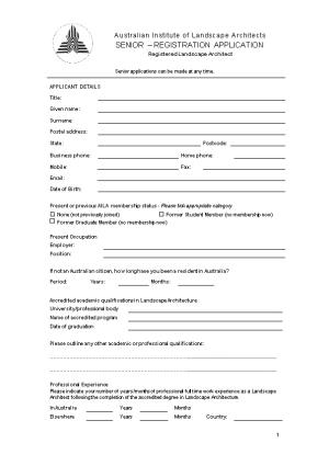 Page 1Of 5 Application Form Associate Membership 2004