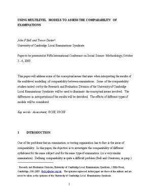 Paper for Fifth International Conference on Social Science Methodology of the Research