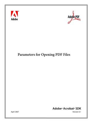Parameters for Opening PDF Files