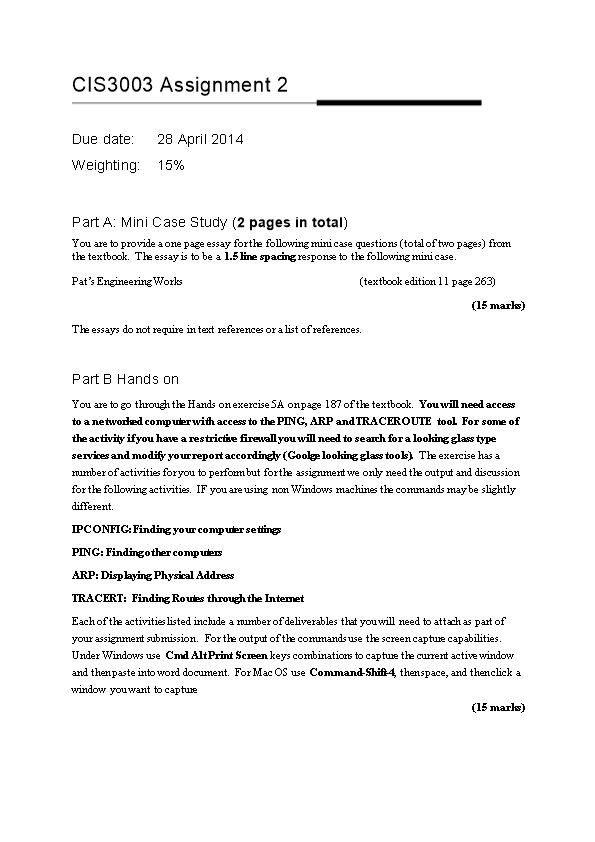 Part A: Mini Case Study ( 2 Pages in Total )