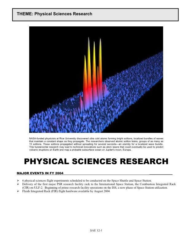 Physical Sciences Research