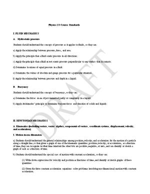 Physics 2/3 Course Standards