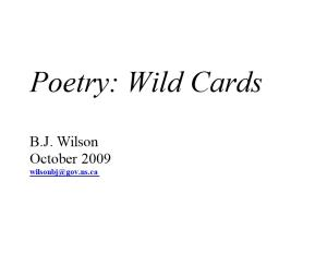 Poetry: Wild Cards