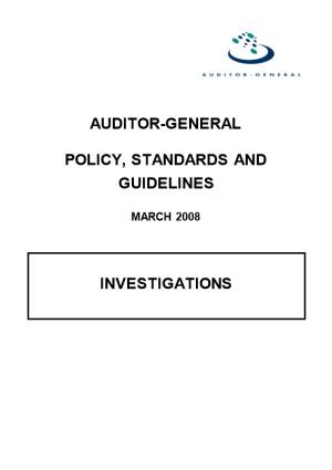Policy, Standards and Guidelines