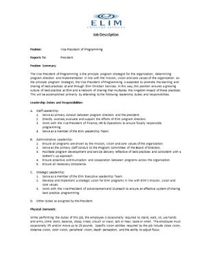 Position:Vice President of Programming