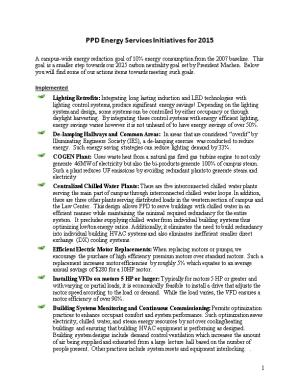 PPD Energy Services Initiatives for 2015