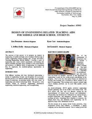 Proceedings of the Spring KGCOE Multi-Disciplinary Engineering Design Conferencepage 1