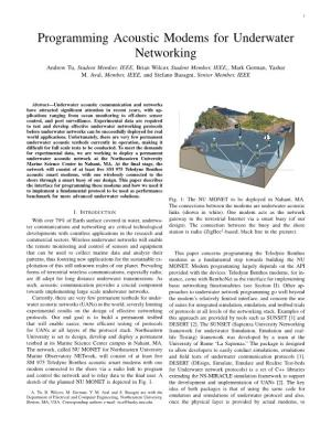 Programming Acoustic Modems for Underwater Networking