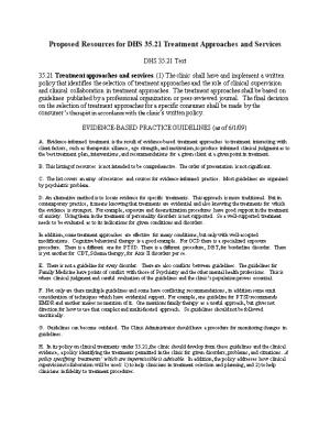 Proposed Resources for DHS 35.21 Treatment Approaches and Services