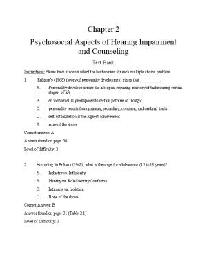 Psychosocial Aspects of Hearing Impairment and Counseling