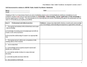 Public Health Practitioner (Draft) Standards