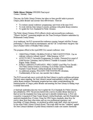 Public Library Division 1999/2000 Final Report