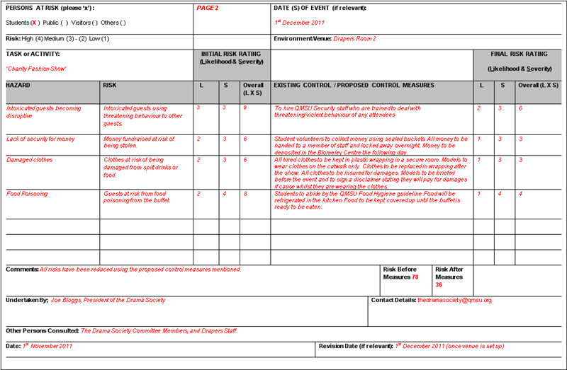 Qmsu Risk Assessment Form And Guidance Docsbay The risk assessment factors in the relationship between the three elements. qmsu risk assessment form and guidance
