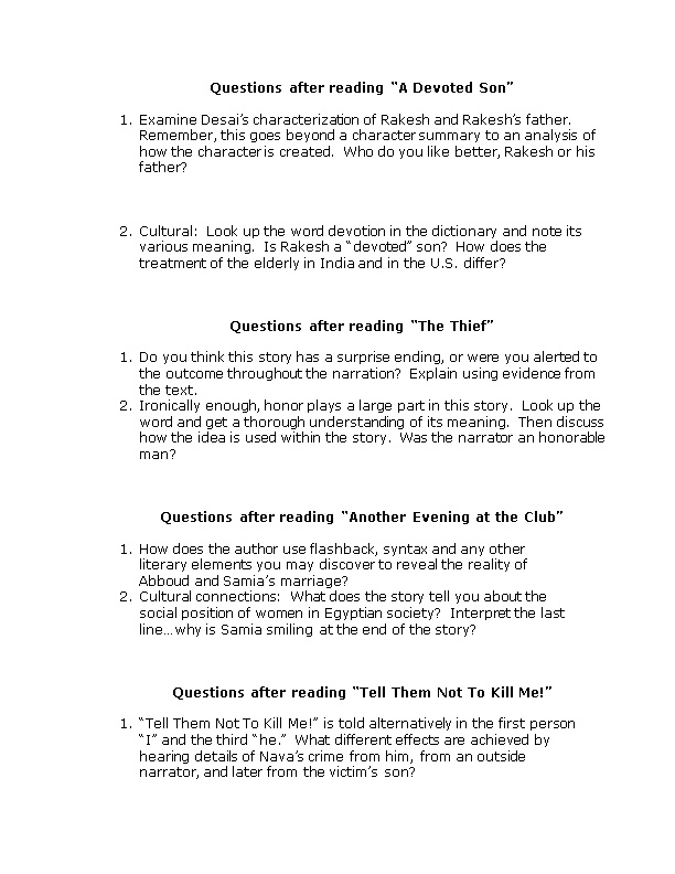 Questions After Reading the Mother of the Child in Questions