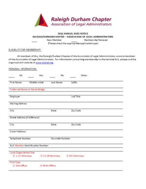Raleigh/Durham Chapter Association of Legal Administrators
