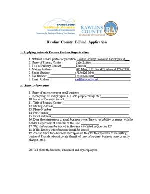 Rawlins County E-Fund Application