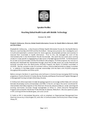 Reaching Global Health Goals with Mobile Technology