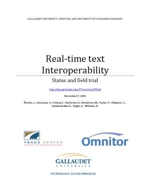 Real-Time Text Interoperability